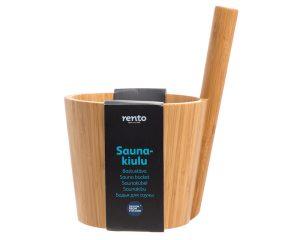Rento bambus saunaspand - pøs - 5 liter